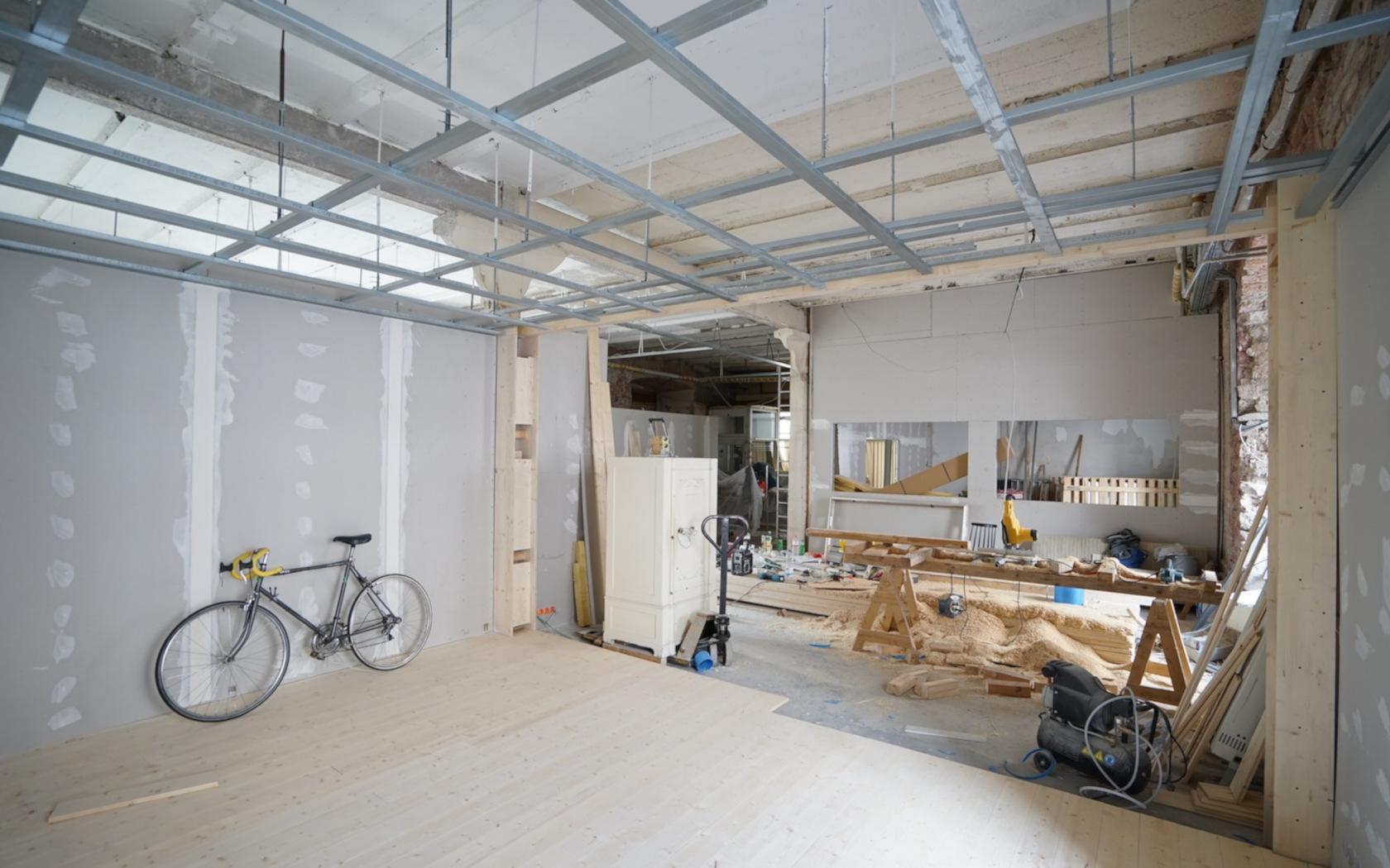 Formwerke, Höchst FFM, Atelier, workspace, Mobile Regalewände, Studio, Interior, keinStil. Boris Banozic,Umbau, Eigenleistung, kleines budget