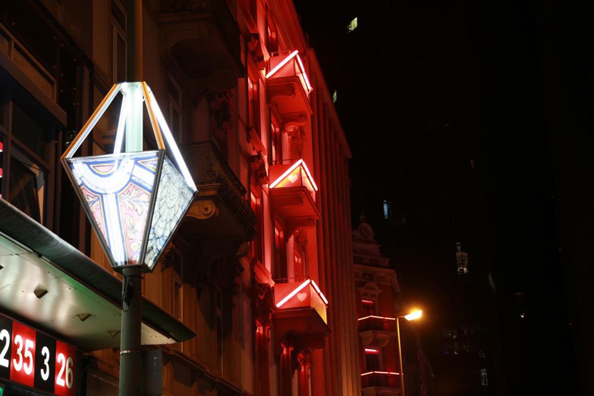 Lichtinstallation im Bahnhofsviertel, Design und Planung, Lampions